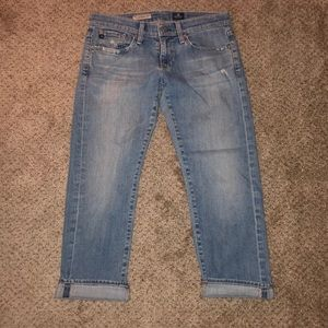 """AG """"the Tomboy Crop"""" Relaxed Straight 26"""